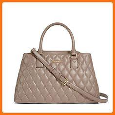 Vera Bradley Quilted Emma Satchel in Taupe - Top handle bags (*Amazon Partner-Link)