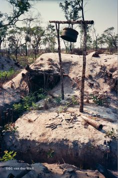 Cuban/Russian Bunker at Cuito Cuanavale 1988 203BN SWATF Army Day, Defence Force, Armed Forces, South Africa, Apartheid, African, Military, War, History