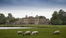 Badminton House, the Duke of Beaufort's home in Gloucestershire, England