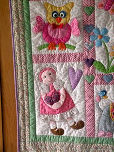 """""""Dolly and me"""" quilt for DGD finally finished"""