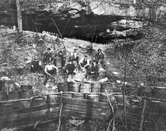 Raid on a moonshine still in Boyd County, Kentucky. c1928.