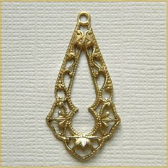 Raw Brass Filigree Ornate Open Center by DecadentBrassGlass