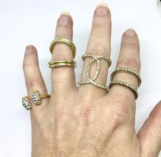 Vintage Costume Stocking Stuffer Rhinestone Ring Lot Sizes 4-8 by AdornedInHistory on Etsy
