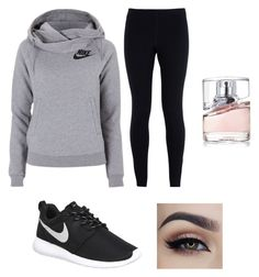 """""""Untitled #75"""" by arbaugh-madison on Polyvore featuring NIKE, HUGO, women's clothing, women, female, woman, misses and juniors"""