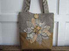 Leather faux fabric handbag tote for Women by BerkshireCollections, $70.00