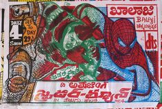 When Hollywood Movie Posters can't be Imported Locals Draw their Own: A Bootleg Retrospective. Spiderman from India