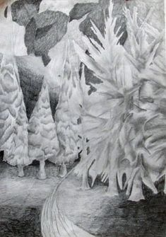 Bennachie, graphite pencil, A3