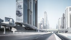 Dubai cityscapes by Jens Fersterra, via Behance