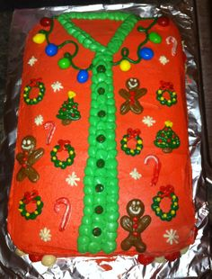 Ugly Sweater Cake!