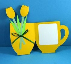 Cup of flowers Mother's Day card