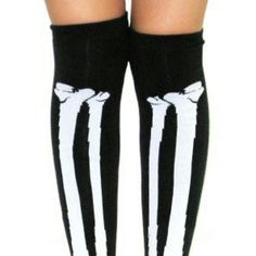 """Knee High Skeleton Glow In The Dark Socks ALL ITEMS FOR SALE Limited Supply Only  Price 1 pair - $15 a pair or better offer """"SHIPPING NOT INCLUDED""""  (If you would like to purchase more than 1, message me WHICH COLORS and I can create a seperate Poshmark Ad for you to pay)  Brand new, never been worn  (packaged)  Unisex (For Men or Women)  FOLLOW ME & CHECK MY PIX EBAY Seller Acct - escrubulua Facebook - imau1987@gmail.com lnstagram - mistah_got_it_all Twitter - @eye_got_it_all  """"PAYPAL…"""