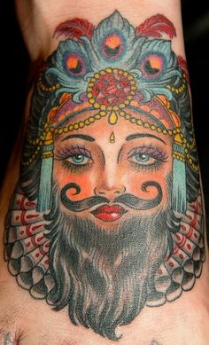 Amy Duncan- what?!  I love bearded lady tattoos
