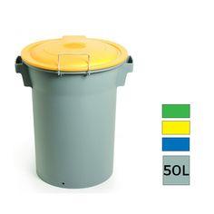 Montserrat Poubelle de recyclage plastique gris 50L