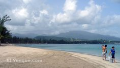 'Balneario Luquillo' has always been Puerto Rico's most famous beach. This is an easy day trip from San Juan, or you can combine it with a trip to the El Yunque rainforest ( top of the mountain you see in the distance, above photo). Before I moved to US, I used to live with my husband just walking distance from the beach. Just priceless and unforgettable!