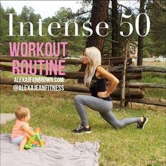 Fitness & Health   Alexa Jean   Intense 50 Workout Routine CrossFit Workouts   Alexa Jean Fitness  workout program,exercises,Exercise routine,workouts,fitness workout,workouts for women,fitness,workout routines,workout routine,workout plan Fitness Workouts, Intense 50, Crossfit Workout, Workout Fitness, Baby Workout, Workout Routines, 50 Workout, Alexa Jean Crossfit, Alexa Jeans