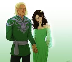 Aedion and Lysandra - Empire of Storms [art by Meabhd]