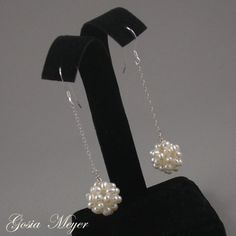 Freshwater Pearl wedding earrings by Gosia Meyer