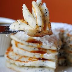 Lemon Poppyseed Ricotta Pancakes from Pancake Mix