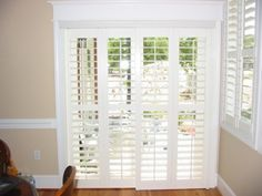 Sliding Patio Door Blinds Roller Shades For Glass Doors Pictures Of Window Treatments In Kitchen Curtains Ikea Curtain Ideas Singular Photo Plantation Shutters Lowes Solar Sliding Door Coverings, Modern Window Coverings, Glass Door Coverings, Patio Door Coverings, Sliding Door Curtains, Sliding Door Window Treatments, Curtain Door, Kitchen Sliding Doors, Kitchen Patio Doors