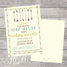 Arrow Baby Shower Invitation by ALiBink on Etsy https://www.etsy.com/listing/252083059/arrow-baby-shower-invitation