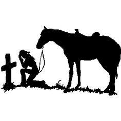 cowgirl prayer | CowGirl Prayer Decals #20 Faith Window Decals & Stickers
