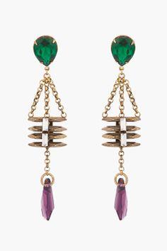 7498038af 14 Best Silver Gemstone Earring Designs images | Jewelry, Metal ...