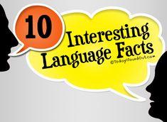 10 Interesting Language Facts...