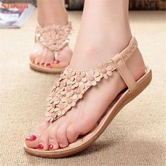 $7.23 (Buy here: alitems.com/... ) High quality Women's Fashion Sweet Summer Bohemia Sweet Beaded #Sandals Clip Toe #Sandals Beach Shoes Herringbone #Sandals Shoes for just $7.23