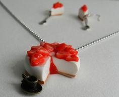 Parure cheesecake aux fraises