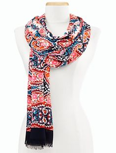 Talbots - Folk Paisley Scarf | | Discover your new look at Talbots. Shop our Folk Paisley Scarf for stylish clothing and accessories with a modern twist at Talbots