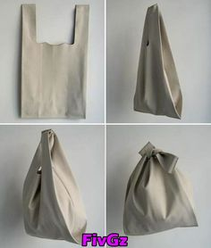 Leather bag made from one~piece ~ such a shame it& leather - Leather Bag Pattern, Leather Fabric, Leather Bags, Diy Makeup Bag, Diy Sac, Diy Tote Bag, Fabric Bags, Shopper Bag, Reusable Bags