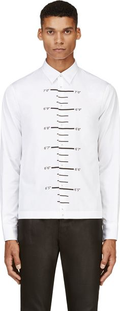 Dsquared2 - White Ruler Graphic Shirt  2f692d41061