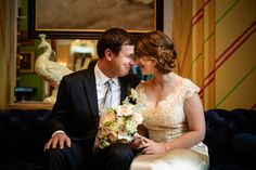 Simmone von Sydney Photography - bride and groom in hotel lobby.