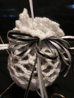White Crochet Christmas Ornament