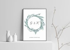 Commemorate your wedding day or special date with this stylish print. Poster Prints, Posters, Place Cards, Wedding Day, Place Card Holders, Tapestry, Stylish, Decor, Pi Day Wedding