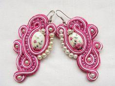 Earrings Handmade earrings Soutache earrings by BohoShabbyChic