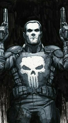 Punisher , in Tyler Walpole's Commissions Comic Art Gallery Room The Punisher, Punisher Comics, Punisher Skull, Batman Comics, Punisher Logo, Marvel Comic Character, Comic Book Characters, Marvel Characters, Character Art