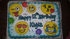 Emojies birthday cake.