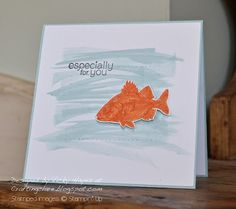 Stampin' Up ideas and supplies from Vicky at Crafting Clare's Paper Moments: A bit of By The Tide fishiness