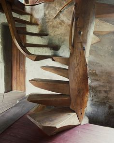 """""""Spiral Stair"""", from Wharton Esherick's home in Paoli, PA. One ofhis best-known creations and featured in Don Freeman's new documentary Art House, 2015."""