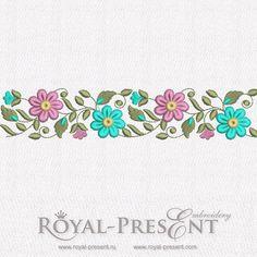Free Machine Embroidery Border Design 3