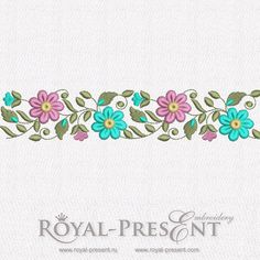 Free Machine Embroidery Border Design 3