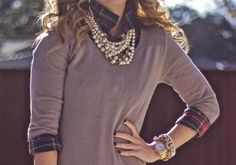how to wear, pearls, fashion, style, necklace, accessories, sweater