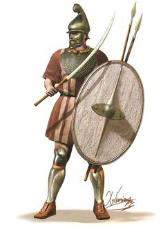 Heavily armed Thracian by Christos Giannopoulos Tribal Warrior, Greek Warrior, Iron Age, European Tribes, Punic Wars, Ancient Armor, Dark Ages, Medieval Fantasy, Ancient Greece