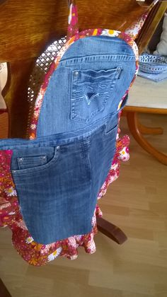 Kochschürze Recycle Old Blue Jeans into a Fun Apron