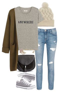 """Anywhere"" by jasmine-shum ❤ liked on Polyvore featuring Current/Elliott, Converse, Madewell, Michael Kors and Topshop"