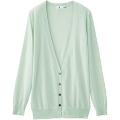+J Cashmere Mix Deep Vneck Long Cardigan ($47) ❤ liked on Polyvore featuring tops, cardigans, outerwear, sweaters, +j, uniqlo cardigan, deep v neck top, low v neck tops, long cardigan and green cashmere cardigan