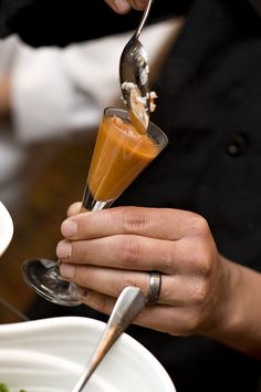 Chef Tim Creehan's Smoked Tomato and King Crab Soup #hospitalitygala2012