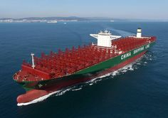 world's largest container ship cscl globe