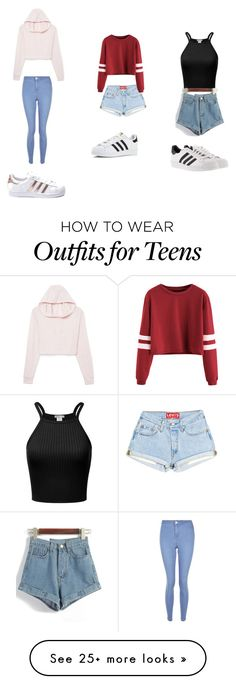 """""""Untitled #1"""" by jaeschketaylah on Polyvore featuring New Look and adidas"""